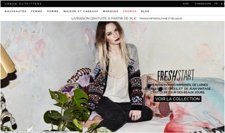 Home page Urban Outfitters